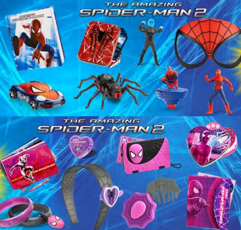 2014 Spider-Man Happy Meal toys. Credit: comicsalliance.com